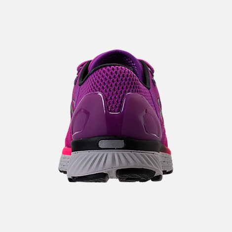 Back view of Women's Under Armour Charged Bandit 3 Running Shoes in Purple Rave/Penta Pink/Black