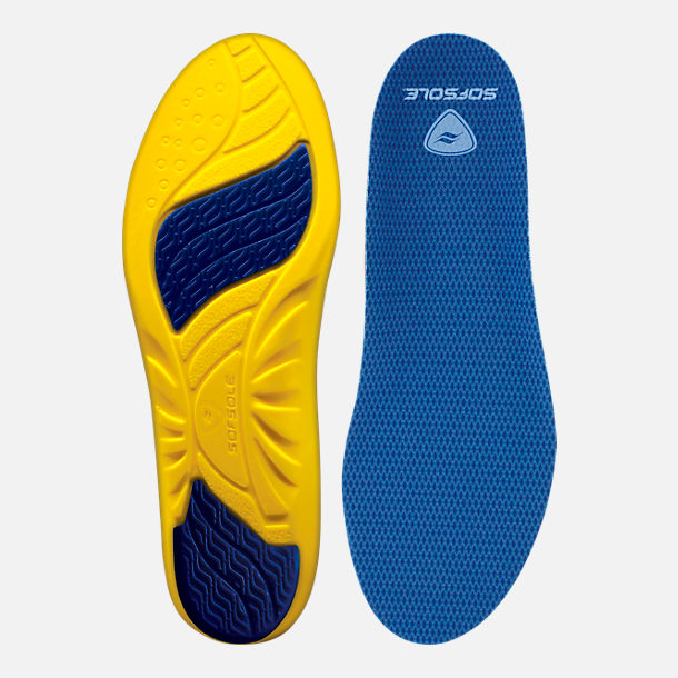 Front view of Men's Sof Sole Athlete Insole Size 7-8.5 in M 7-8.5