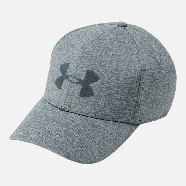Front view of Men's Under Armour Twist Closer Fitted Hat in Graphite