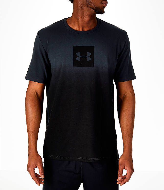 Front view of Men's Under Armour Sportstyle Gradient T-Shirt in Anthracite/Black