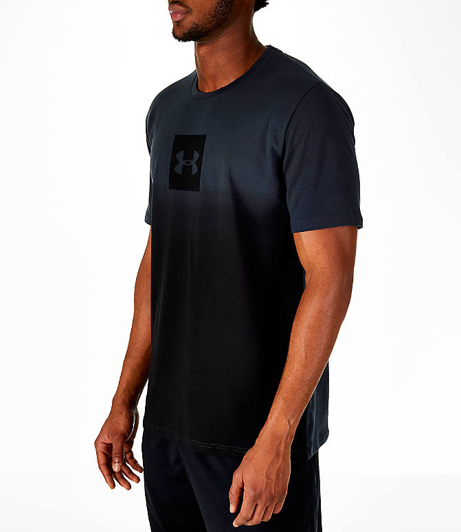 Front Three Quarter view of Men's Under Armour Sportstyle Gradient T-Shirt in Anthracite/Black