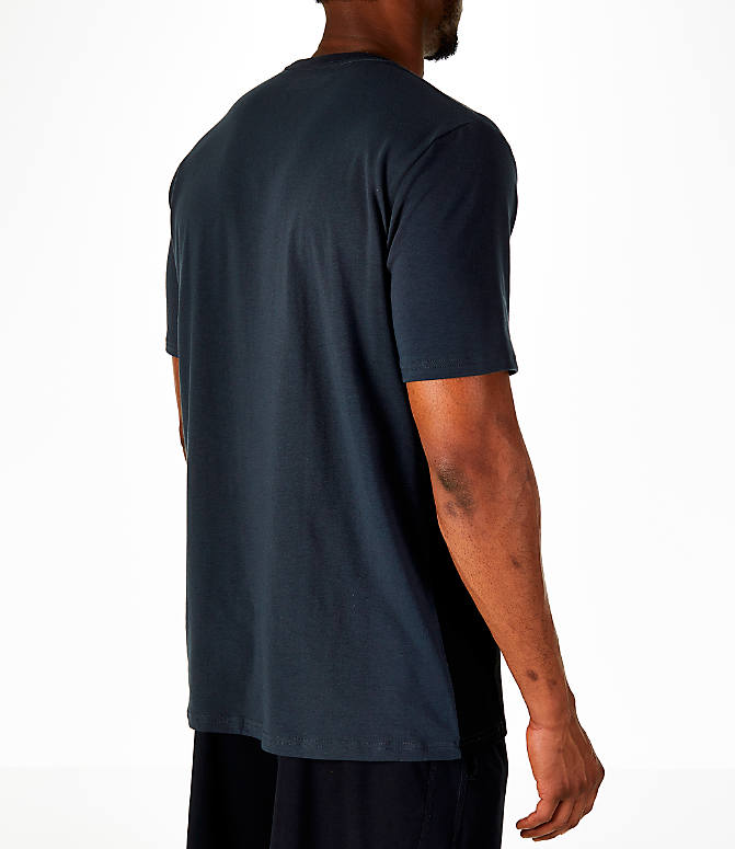 Back Right view of Men's Under Armour Sportstyle Gradient T-Shirt in Anthracite/Black