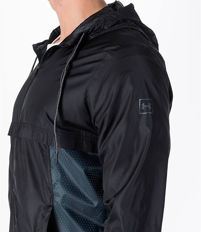 Detail 1 view of Men's Under Armour Sportstyle Windbreaker Jacket in Black/Graphite