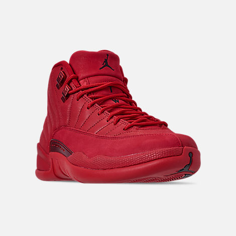 Three Quarter view of Men's Air Jordan Retro 12 Basketball Shoes