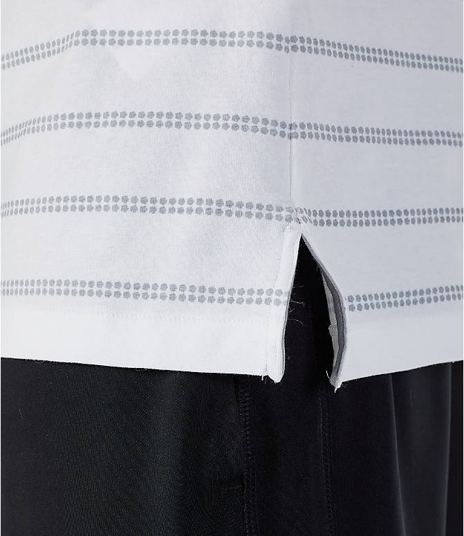 Detail 2 view of Men's Under Armour Sportstyle Stripe T-Shirt in White/Grey