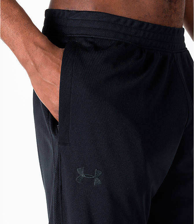 Detail 1 view of Men's Under Armour Sportstyle Pique Training Pants in Black