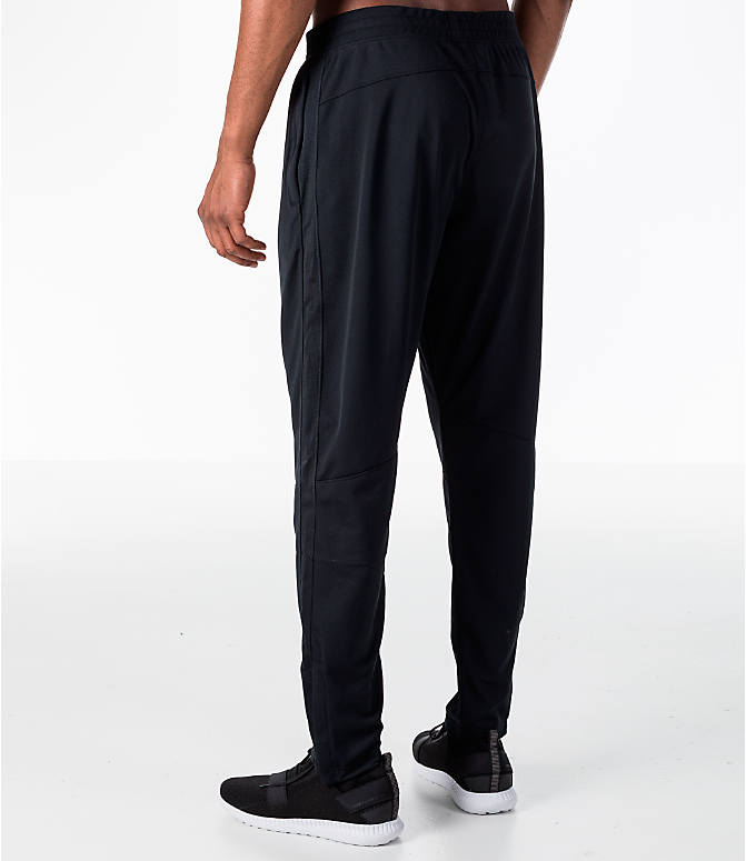 Back Left view of Men's Under Armour Sportstyle Pique Training Pants in Black