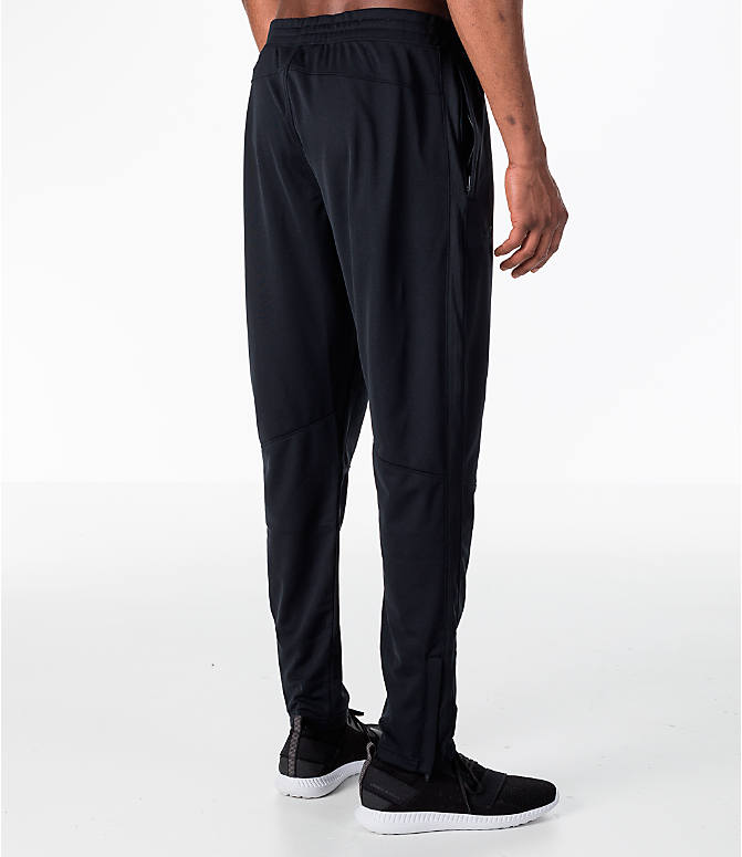 Back Right view of Men's Under Armour Sportstyle Pique Training Pants in Black