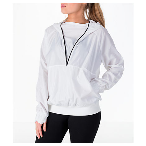 WOMEN'S STORM WOVEN ANORAK JACKET, WHITE