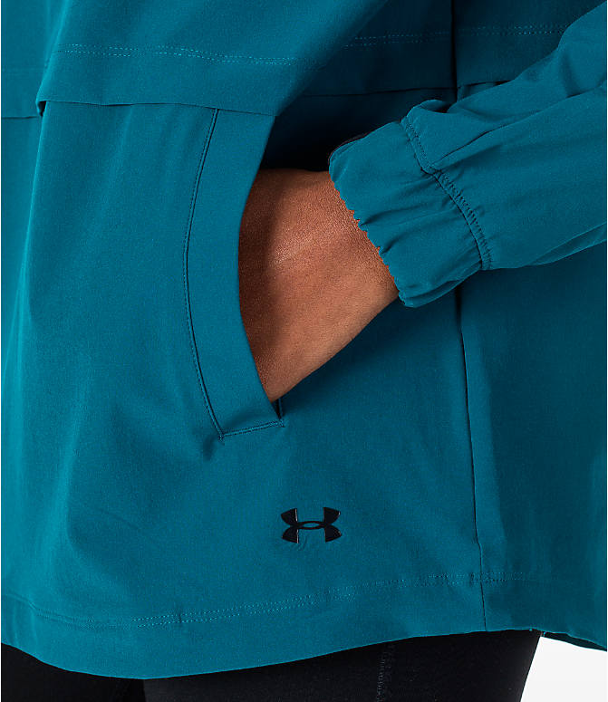 Detail 1 view of Women's Under Armour Storm Woven Anorak Jacket in Teal/Black