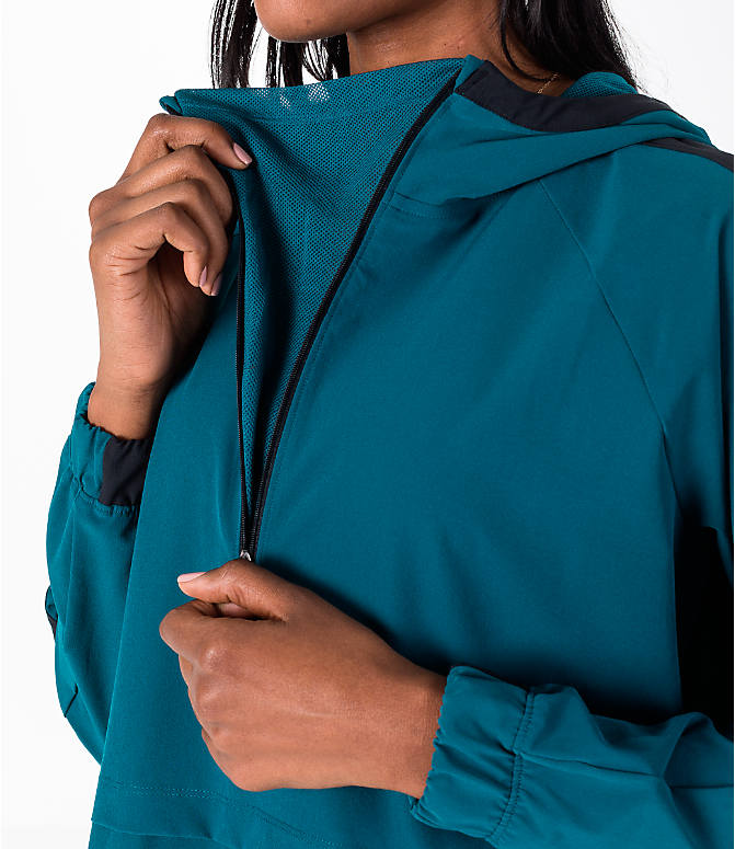 Detail 2 view of Women's Under Armour Storm Woven Anorak Jacket in Teal/Black
