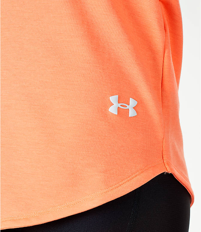 Detail 2 view of Women's Under Armour Featherweight Fleece Oversize Hoodie in Pink