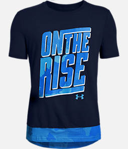 Boys' Under Armour On The Rise Longline T-Shirt