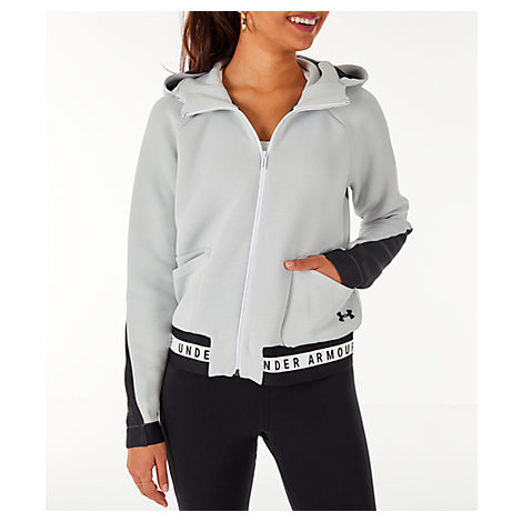 Under Armour WOMEN'S UNSTOPPABLE MOVE FULL-ZIP HOODIE, WHITE