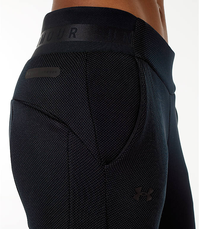 Detail 1 view of Women's Under Armour Unstoppable/MOVE Training Jogger Pants in Black