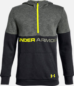 Boys' Under Armour Double Knit Half-Zip Hoodie