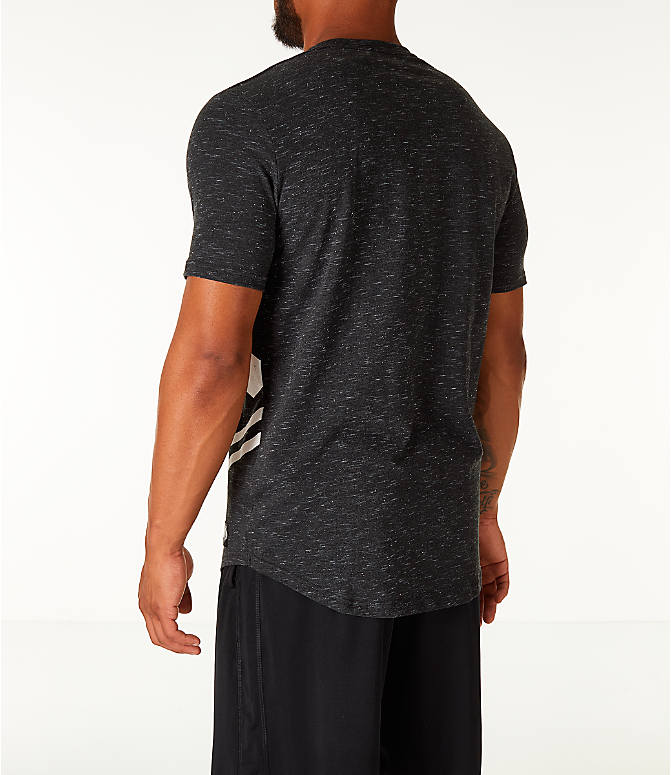 Back Left view of Men's Under Armour Sportstyle Branded T-Shirt in Black/White