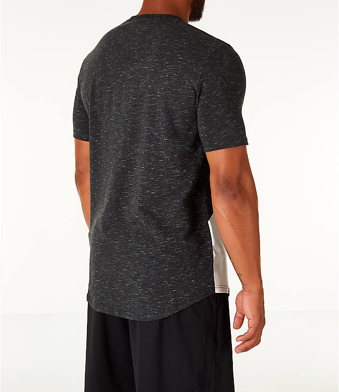 Back Right view of Men's Under Armour Sportstyle Branded T-Shirt in Black/White