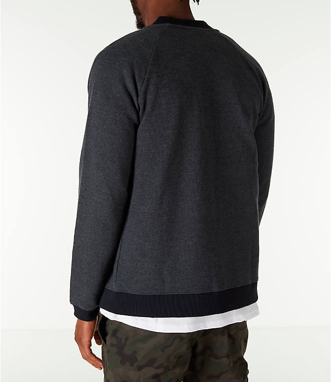 Back Left view of Men's Under Armour Unstoppable Double Knit Bomber Jacket in Black