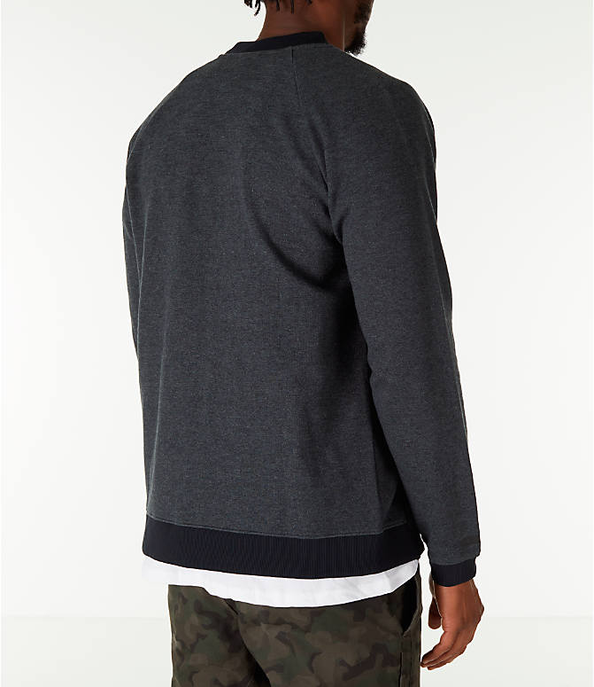 Back Right view of Men's Under Armour Unstoppable Double Knit Bomber Jacket in Black
