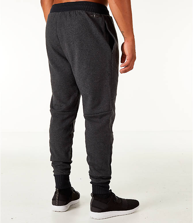 Back Right view of Men's Under Armour Unstoppable 2x Knit Jogger Pants in Black/Black