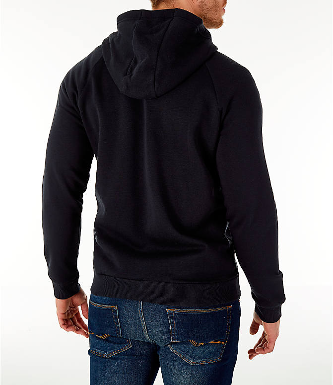 Back Right view of Men's Under Armour Rival Fleece Full-Zip Jacket in Black