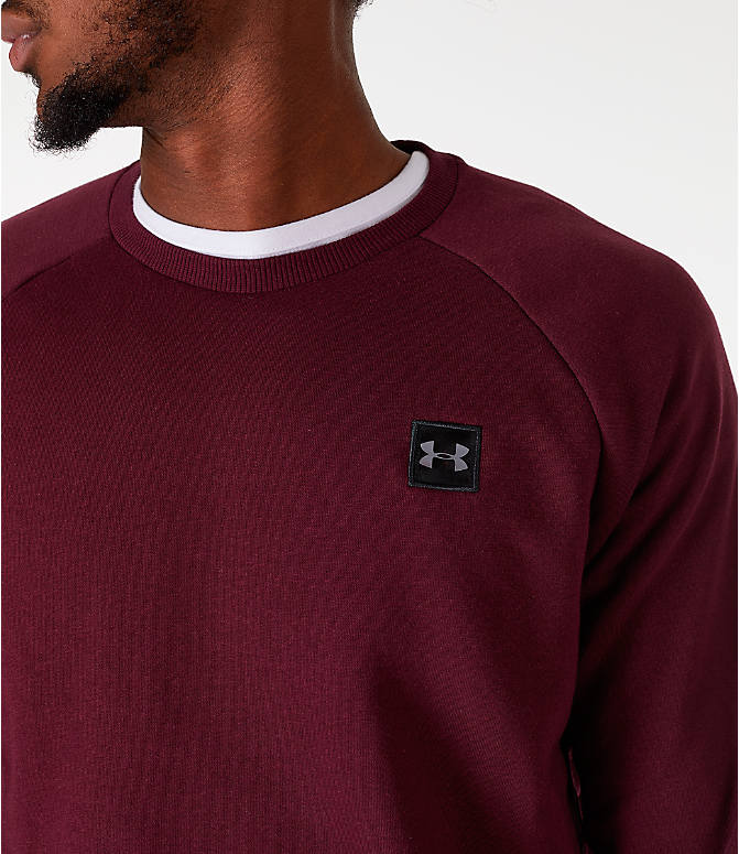 Detail 1 view of Men's Under Armour Rival Fleece Crew Sweatshirt in Maroon