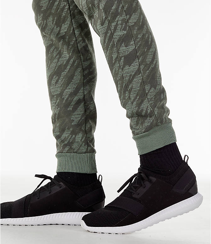 Detail 2 view of Men's Under Armour Rival Fleece Camo Jogger Pants in Moss Green