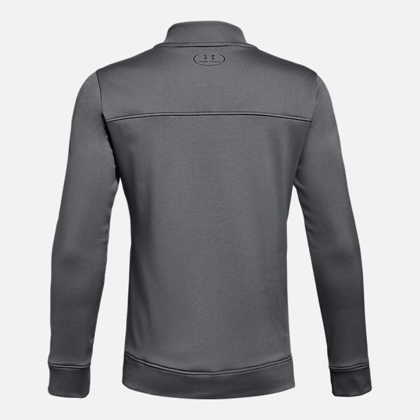 Back view of Boys' Under Armour Pennant Jacket in Grey/Black