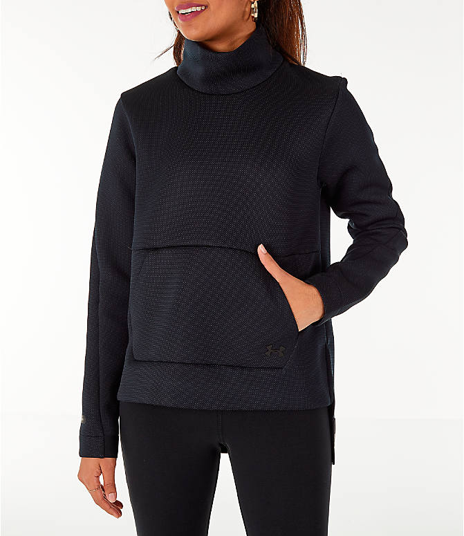 Front view of Women s Under Armour Unstoppable MOVE Mock Neck Long-Sleeve Training  Shirt in eb011eecff