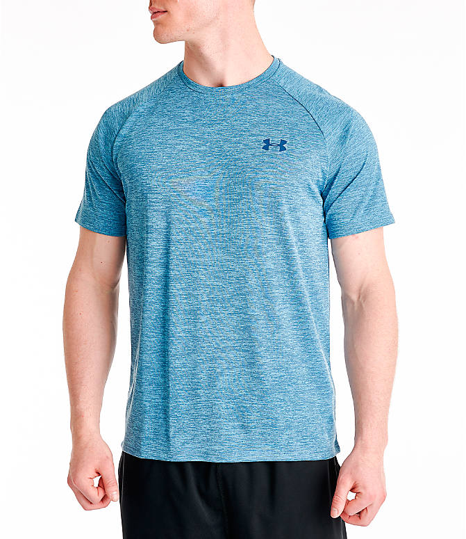 Front view of Men's Under Armour Tech 2.0 T-Shirt in Thunder Blue