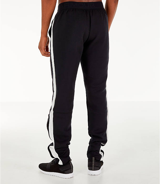 Back Left view of Men's Under Armour Pursuit Move Tearaway Training Pants in Black