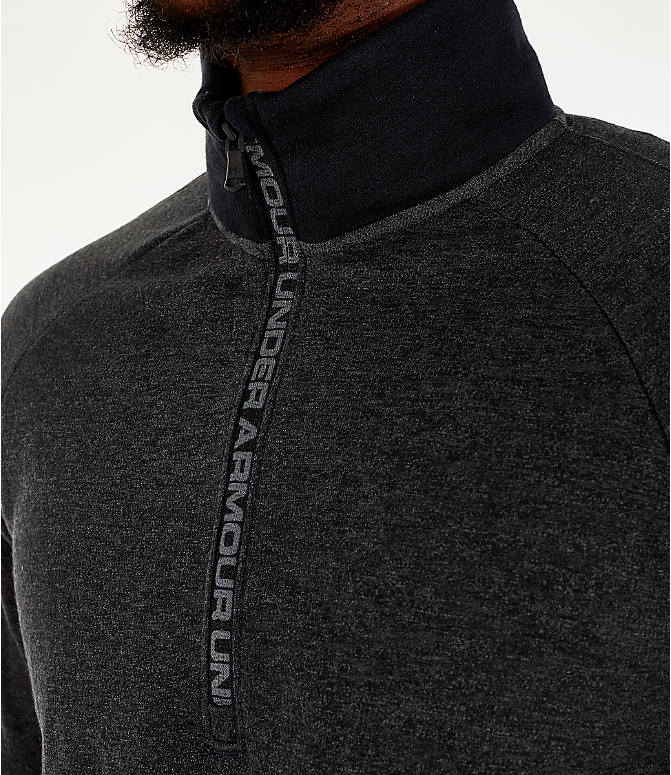 Detail 2 view of Men's Under Armour Unstoppable Double Knit Half-Zip Training Shirt in Black