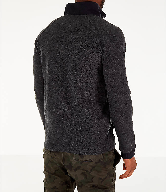 Back Right view of Men's Under Armour Unstoppable Double Knit Half-Zip Training Shirt in Black