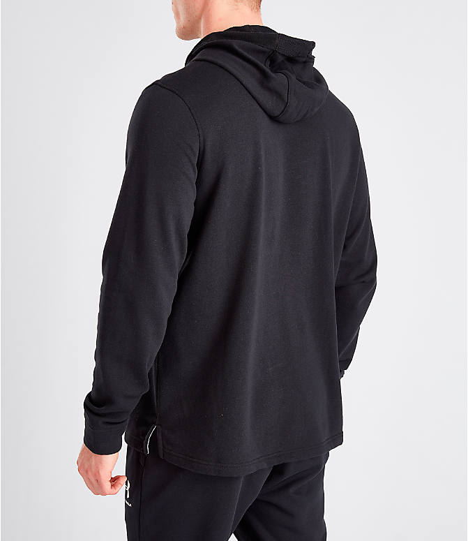 Back Left view of Men's Under Armour Sportstyle Terry Hoodie in Black