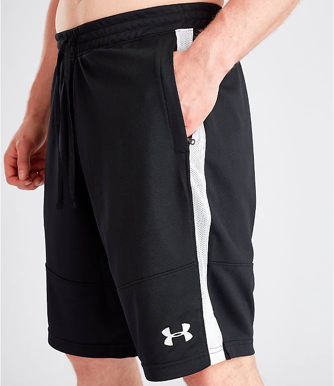Detail 1 view of Men's Under Armour Sportstyle Pique Shorts in Black
