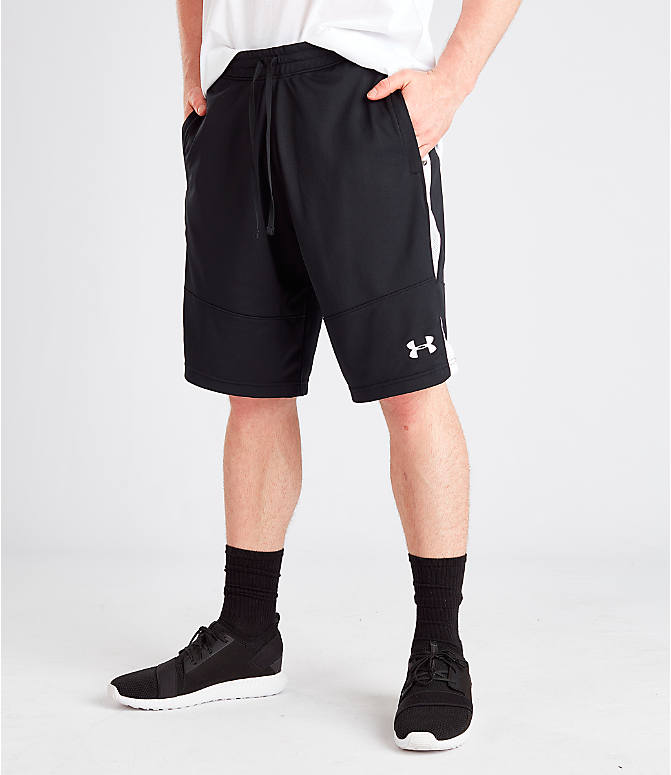 Front view of Men's Under Armour Sportstyle Pique Shorts in Black