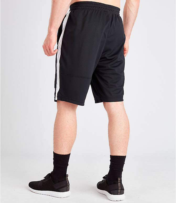 Back Left view of Men's Under Armour Sportstyle Pique Shorts in Black