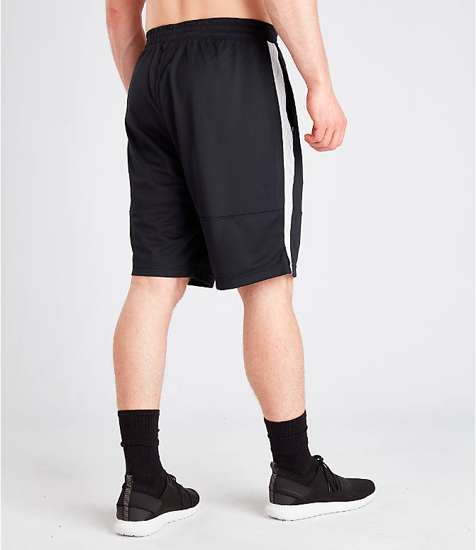 Back Right view of Men's Under Armour Sportstyle Pique Shorts in Black