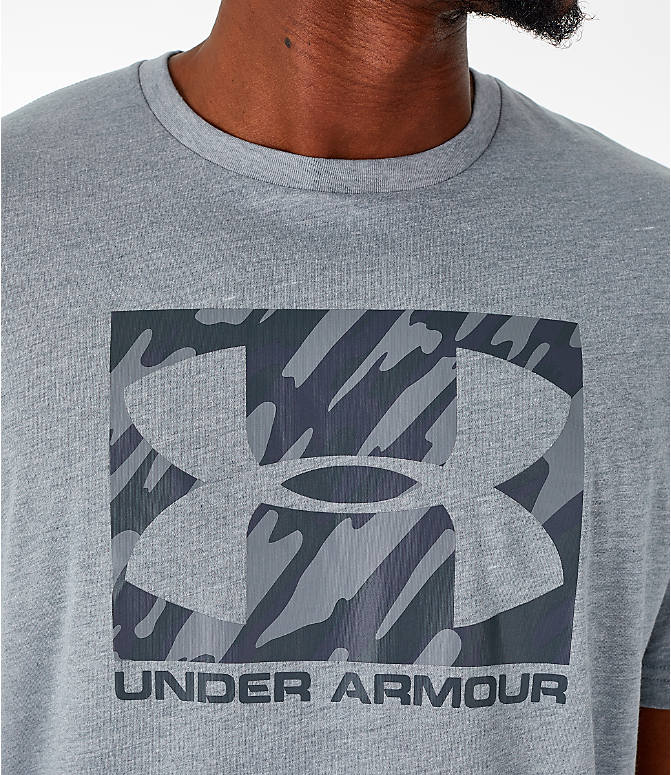 Detail 1 view of Men's Under Armour Sportstyle Boxed T-Shirt in Steel/Anthracite