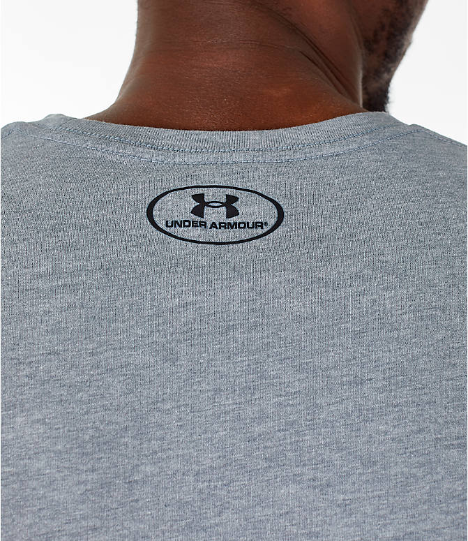 Detail 2 view of Men's Under Armour Sportstyle Boxed T-Shirt in Steel/Anthracite