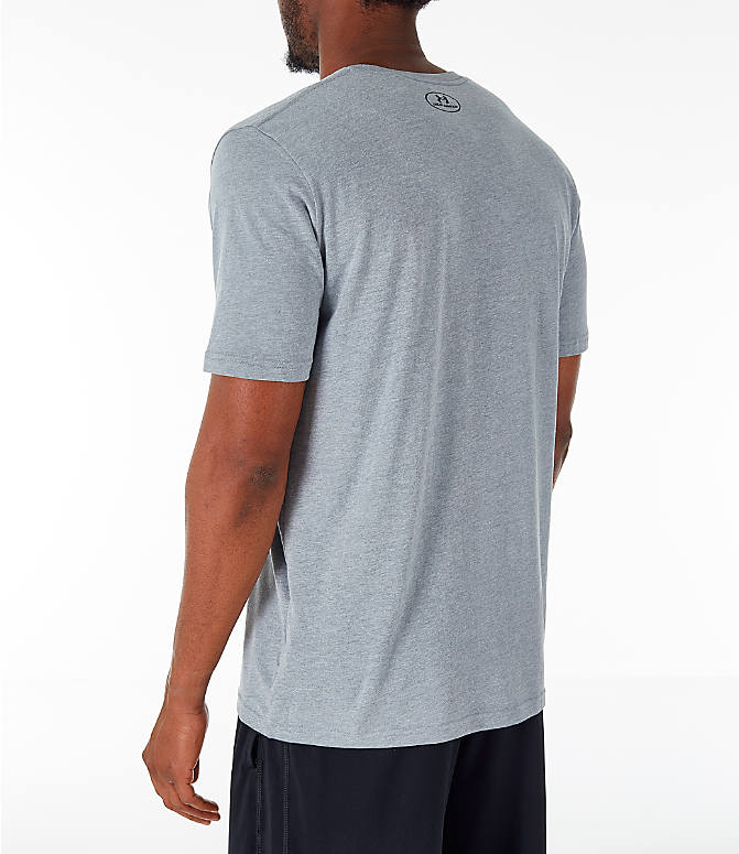 Back Left view of Men's Under Armour Sportstyle Boxed T-Shirt in Steel/Anthracite