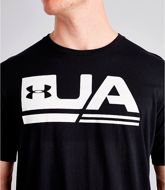 Detail 1 view of Men's Under Armour Sportstyle Drop Hem T-Shirt in Black