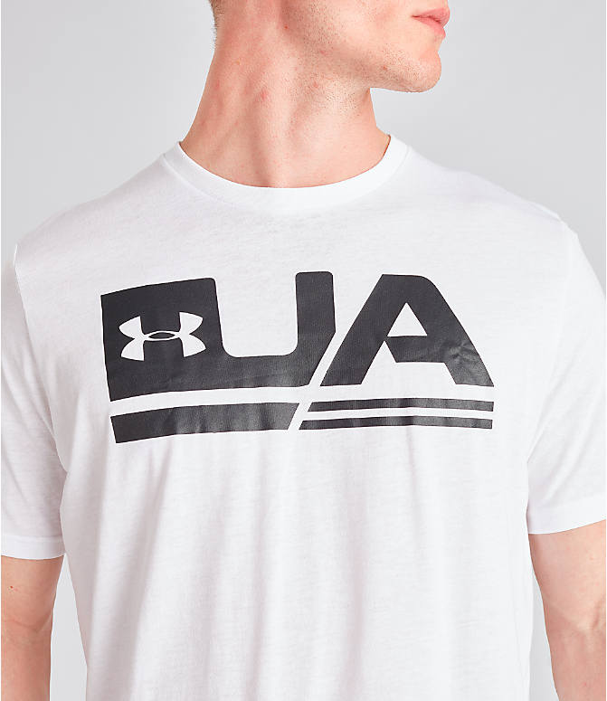 Detail 1 view of Men's Under Armour Sportstyle Drop Hem T-Shirt in White