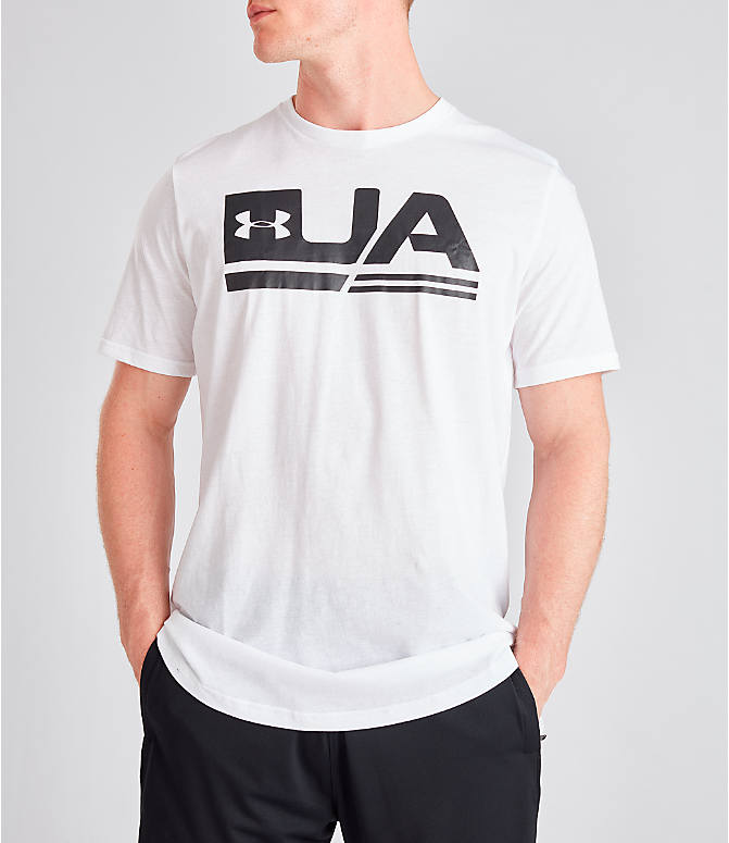 Detail 2 view of Men's Under Armour Sportstyle Drop Hem T-Shirt in White