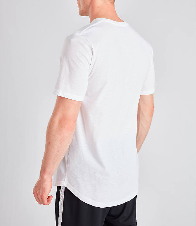 Back Left view of Men's Under Armour Sportstyle Drop Hem T-Shirt in White