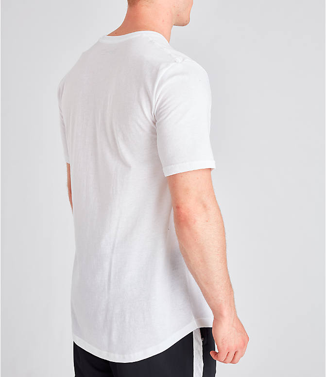 Back Right view of Men's Under Armour Sportstyle Drop Hem T-Shirt in White
