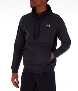 Men's Under Amour Microthread Fleece Anorak Half-Zip Hoodie