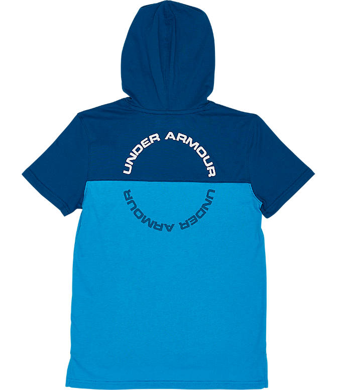 Product 5 view of Boys' Under Armour Sportstyle Hoodie T-Shirt in Ether Blue/White