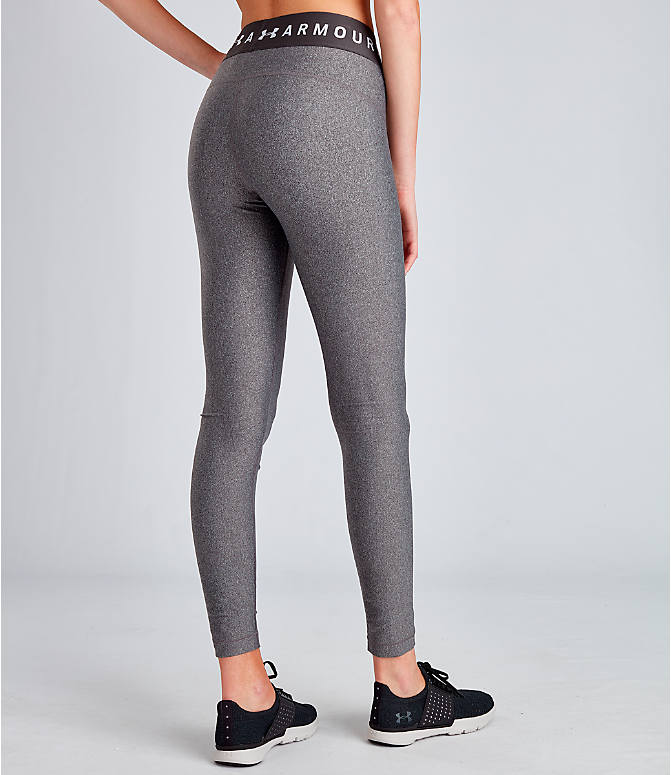 Back Right view of Women's Under Armour HeatGear Branded Leggings